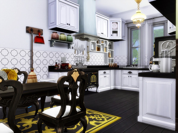 Sims 4 Garbo traditional home by marychabb at TSR