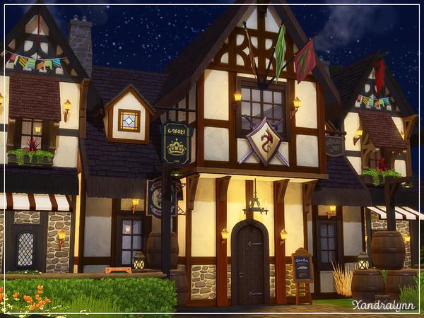 Sims 4 Twin Barrels Tavern by Xandralynn at TSR