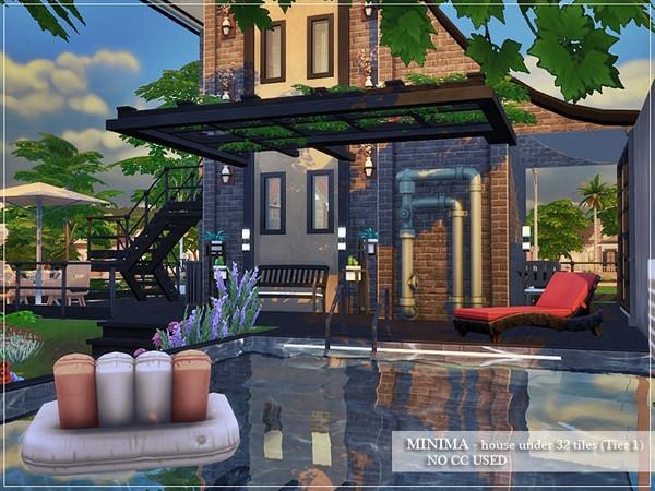 Sims 4 MINIMA house by marychabb at TSR