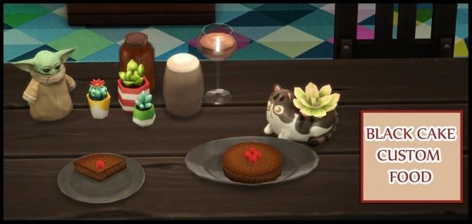 BLACK CAKE CUSTOM FOOD at Icemunmun image 512 670x318 Sims 4 Updates