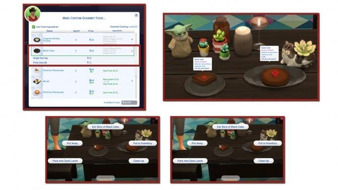 BLACK CAKE CUSTOM FOOD at Icemunmun image 513 670x377 Sims 4 Updates