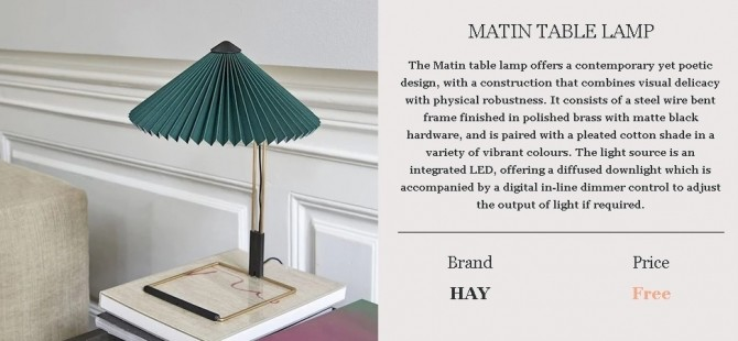 MATIN TABLE LAMP at Meinkatz Creations image 518 670x310 Sims 4 Updates