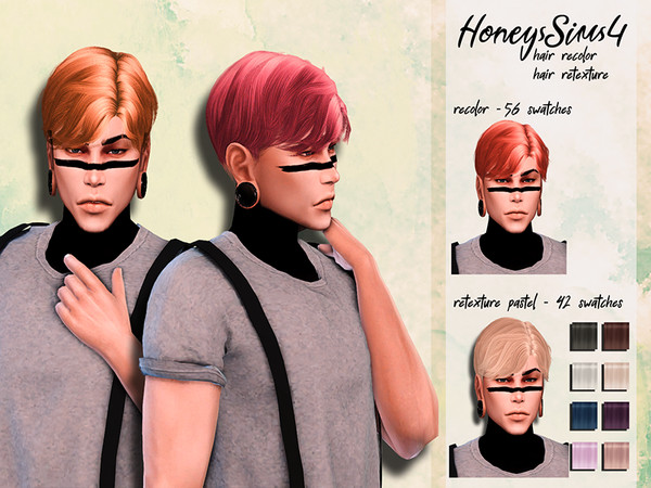 Sims 4 Male hair recolor retexture Musae Milk by HoneysSims4 at TSR