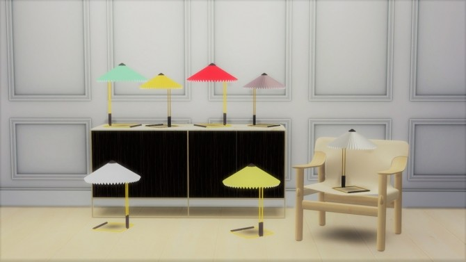 MATIN TABLE LAMP at Meinkatz Creations image 521 670x377 Sims 4 Updates