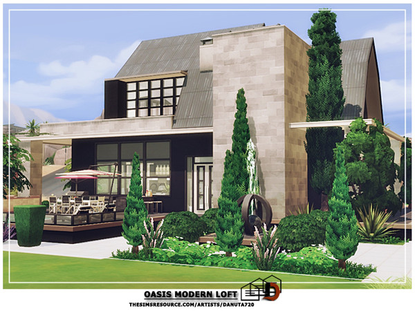 Oasis Modern loft by Danuta720 at TSR image 5218 Sims 4 Updates
