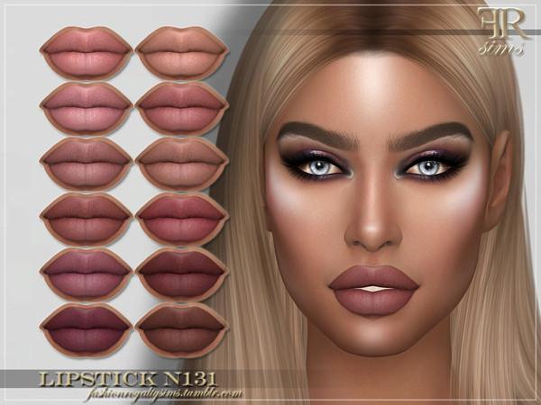 Sims 4 FRS Lipstick N131 by FashionRoyaltySims at TSR