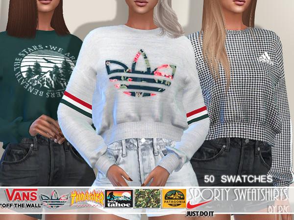 Sims 4 Sporty Sweatshirts Set by Pinkzombiecupcakes at TSR