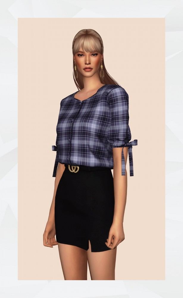 Ribbon Sleeve Blouse at Gorilla image 532 615x1000 Sims 4 Updates