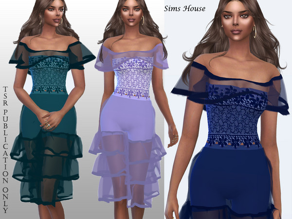 Sims 4 Corset with lace drape by Sims House at TSR