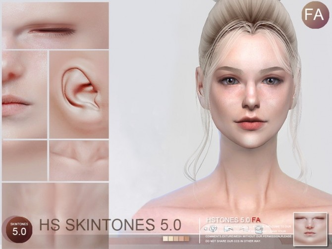 Sims 4 HS5.0 skintones FA by S Club WMLL at TSR