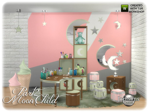 Sims 4 Moonchild kids bedroom part 2 by jomsims at TSR