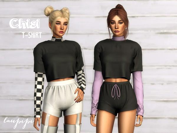 Sims 4 Chisi T Shirt by laupipi at TSR