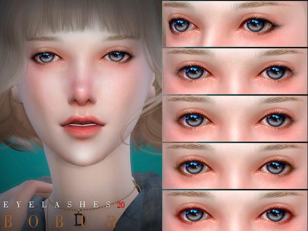 Sims 4 Eyelashes 20 by Bobur3 at TSR