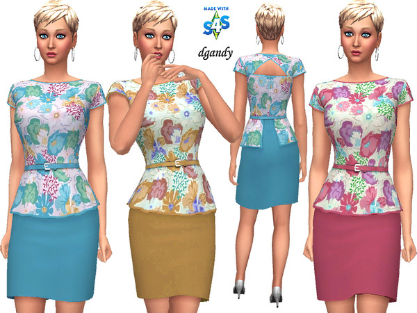 Dress 20200119 by dgandy at TSR image 5515 Sims 4 Updates