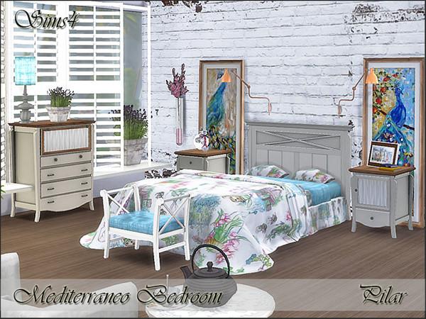 Sims 4 Mediterraneo Bedroom by Pilar at TSR