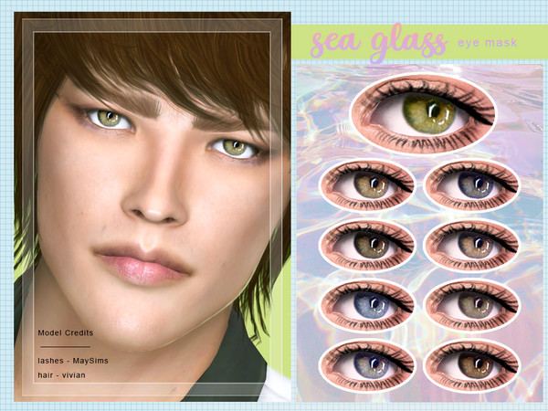 Sims 4 Sea Glass Eye Mask by Screaming Mustard at TSR