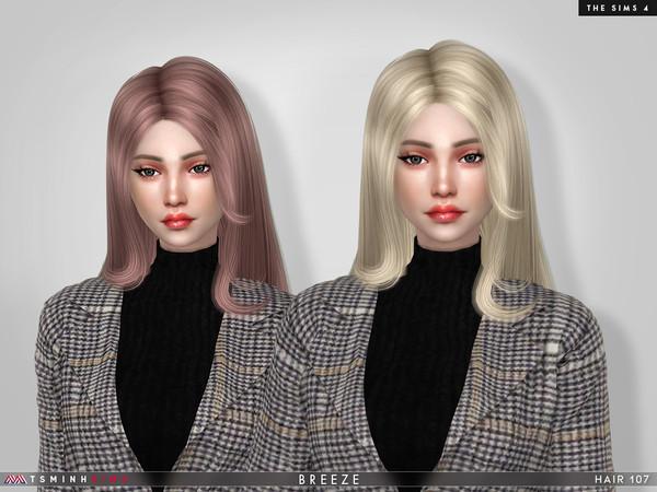 Sims 4 Breeze Hair 107 by TsminhSims at TSR