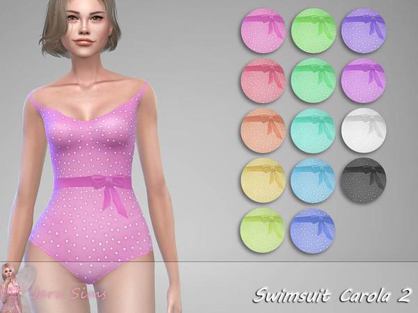 Sims 4 Swimsuit Carola 2 by Jaru Sims at TSR