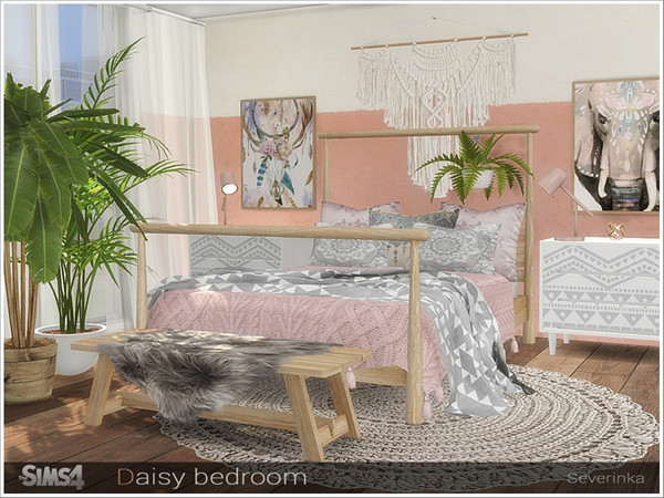 Daisy bedroom by Severinka at TSR image 578 Sims 4 Updates