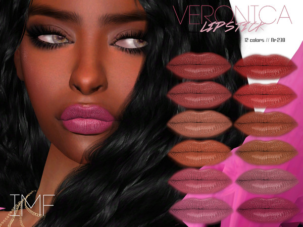 Sims 4 IMF Veronica Lipstick N.238 by IzzieMcFire at TSR