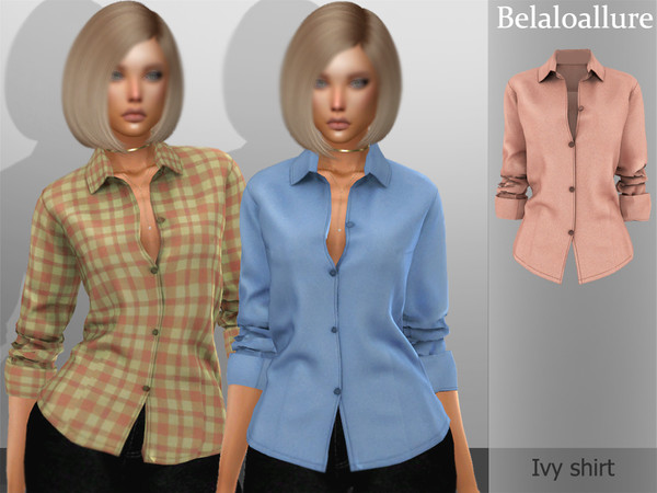 Sims 4 Belaloallure Ivy shirt by belal1997 at TSR