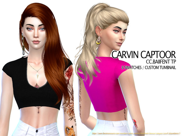 Sims 4 Baiifent Tp top by carvin captoor at TSR