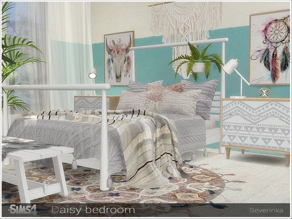 Daisy bedroom by Severinka at TSR image 588 Sims 4 Updates