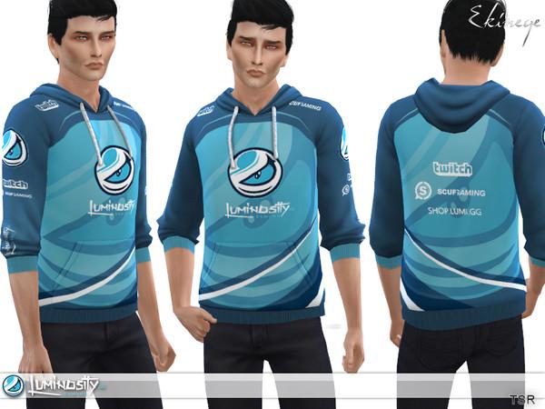 Sims 4 Luminosity Gaming Hoodie 2 by ekinege at TSR