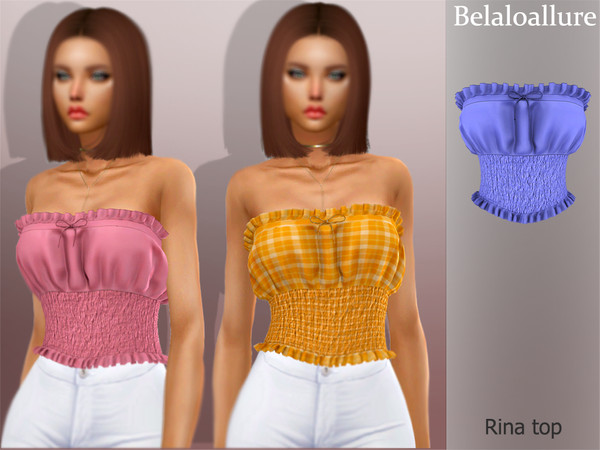 Sims 4 Belaloallure Rina top by belal1997 at TSR