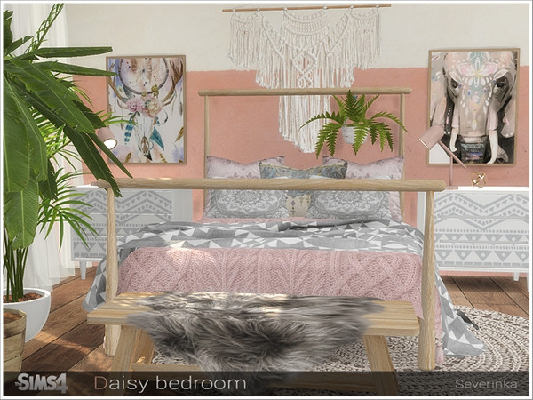 Daisy bedroom by Severinka at TSR image 598 Sims 4 Updates
