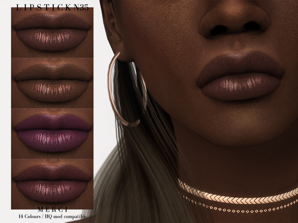 Sims 4 Lipstick N35 by Merci at TSR