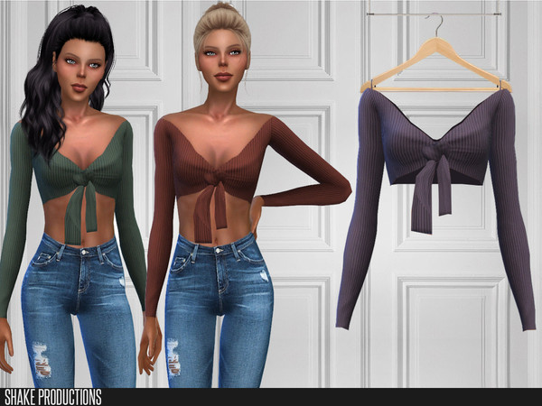 Sims 4 373 Top by ShakeProductions at TSR