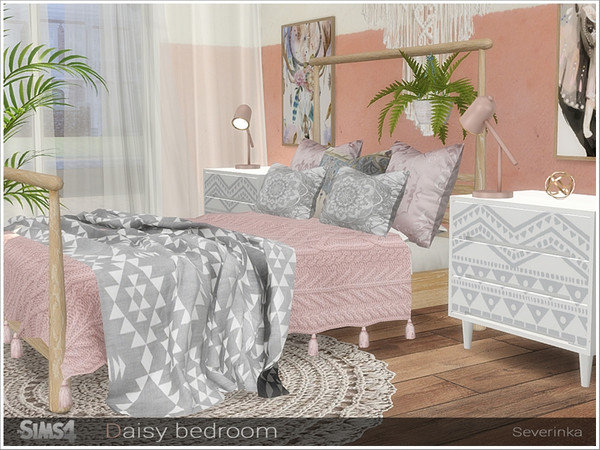 Daisy bedroom by Severinka at TSR image 608 Sims 4 Updates