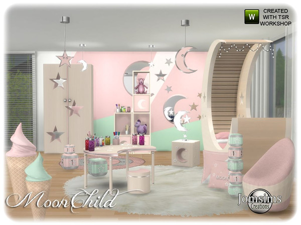 Moonchild kids bedroom by jomsims at TSR image 6114 Sims 4 Updates