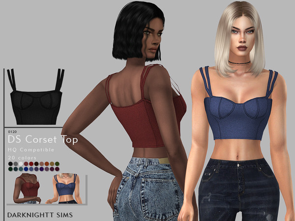 Sims 4 DS Corset Top by DarkNighTt at TSR