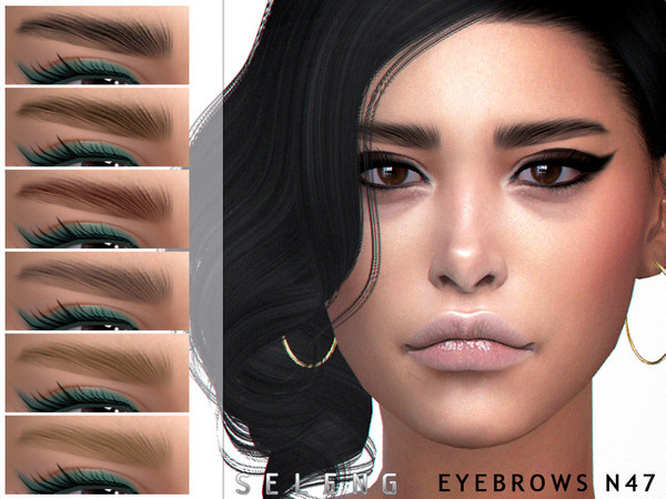 Sims 4 Eyebrows N47 by Seleng at TSR