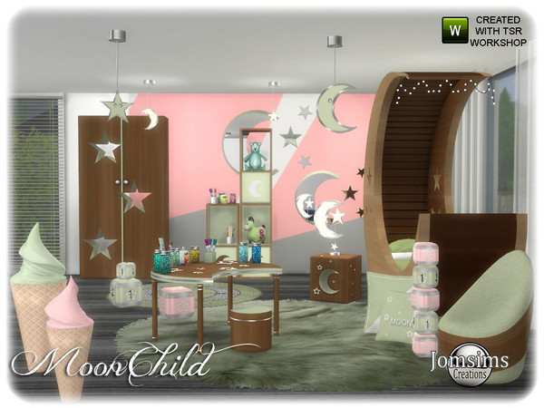 Moonchild kids bedroom by jomsims at TSR image 6211 Sims 4 Updates