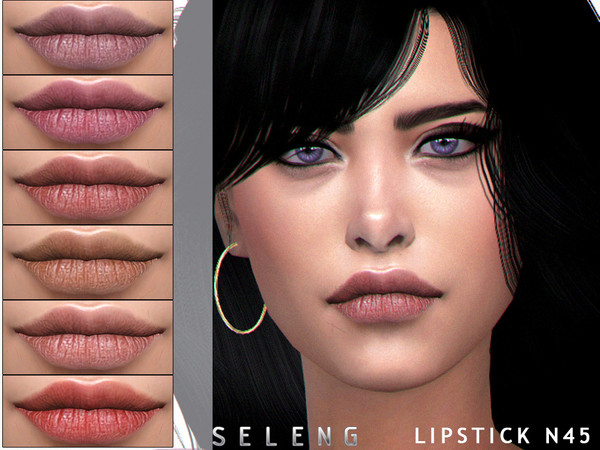 Lipstick N45 by Seleng at TSR image 6215 Sims 4 Updates