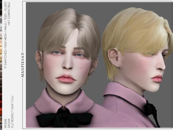 Sims 4 Sagna Hair by magpiesan at TSR