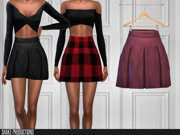Sims 4 370 Skirt by ShakeProductions at TSR