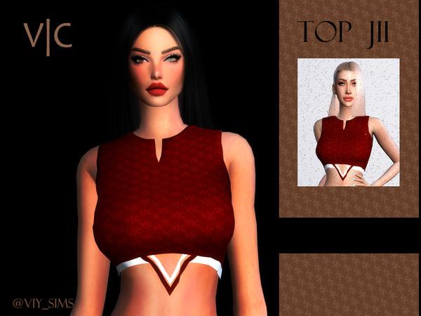 TOP JII by Viy Sims at TSR image 628 Sims 4 Updates