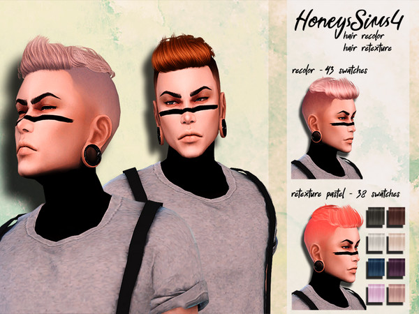 Sims 4 Male hair recolor retexture Anto Oliver by HoneysSims4 at TSR