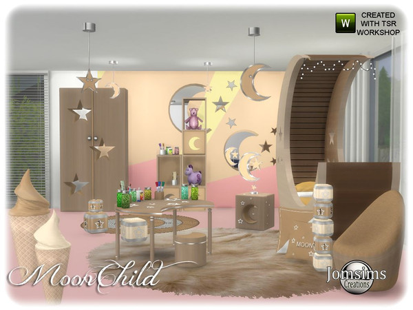 Moonchild kids bedroom by jomsims at TSR image 6310 Sims 4 Updates