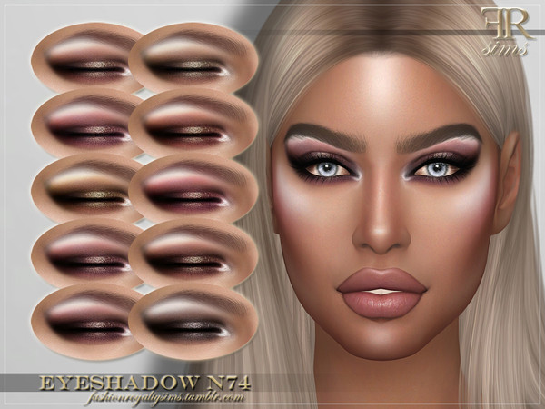 Sims 4 FRS Eyeshadow N74 by FashionRoyaltySims at TSR