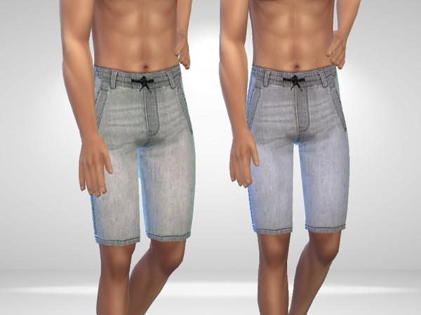 Sims 4 Male Denim Shorts by Puresim at TSR