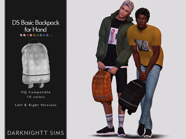 Sims 4 DS Basic Backpack for Hand by DarkNighTt at TSR