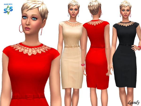 Sims 4 Dress 20200114 by dgandy at TSR
