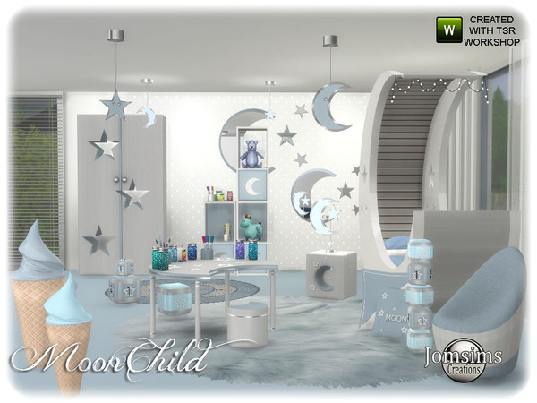 Moonchild kids bedroom by jomsims at TSR image 6410 Sims 4 Updates