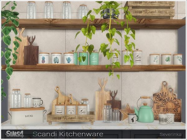 Sims 4 Scandi Kitchenware by Severinka at TSR