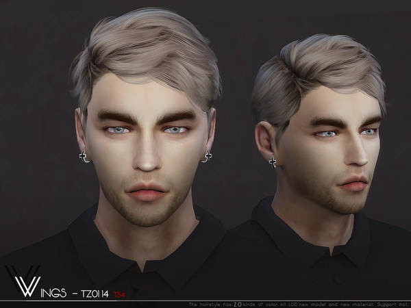 WINGS TZ0114 male hair by wingssims at TSR image 646 Sims 4 Updates
